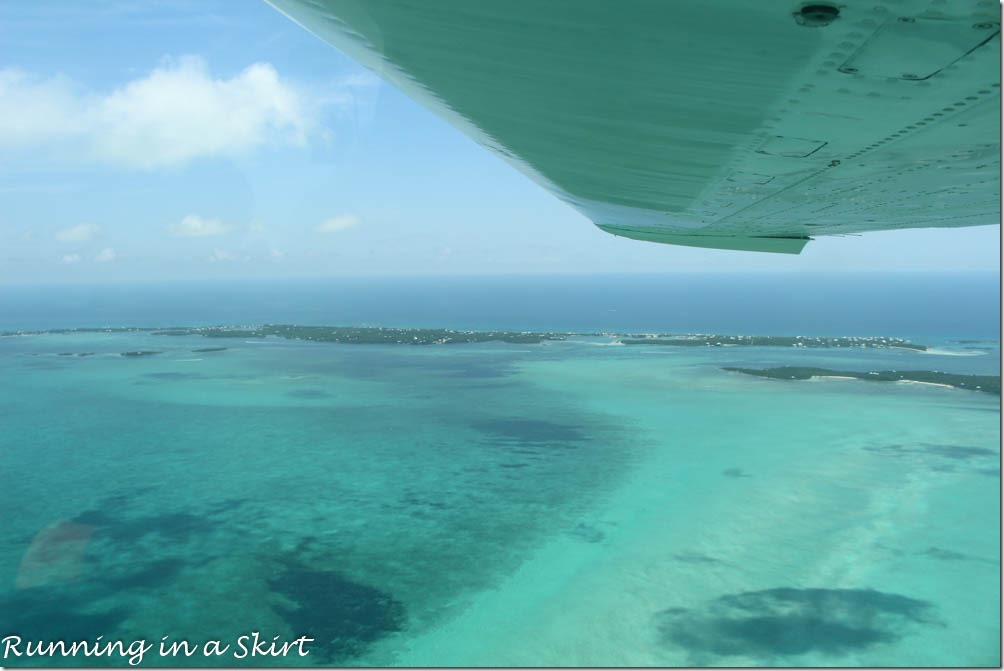 Flying to the Bahamas, Elbow Cay, Hope Town
