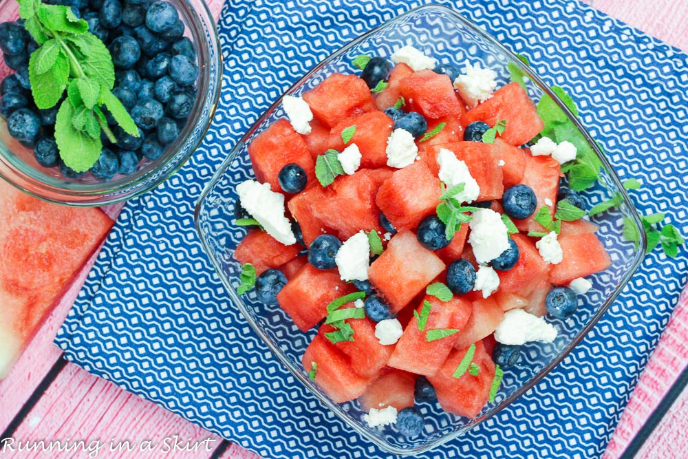 Watermelon Feta Blueberry Salad recipe