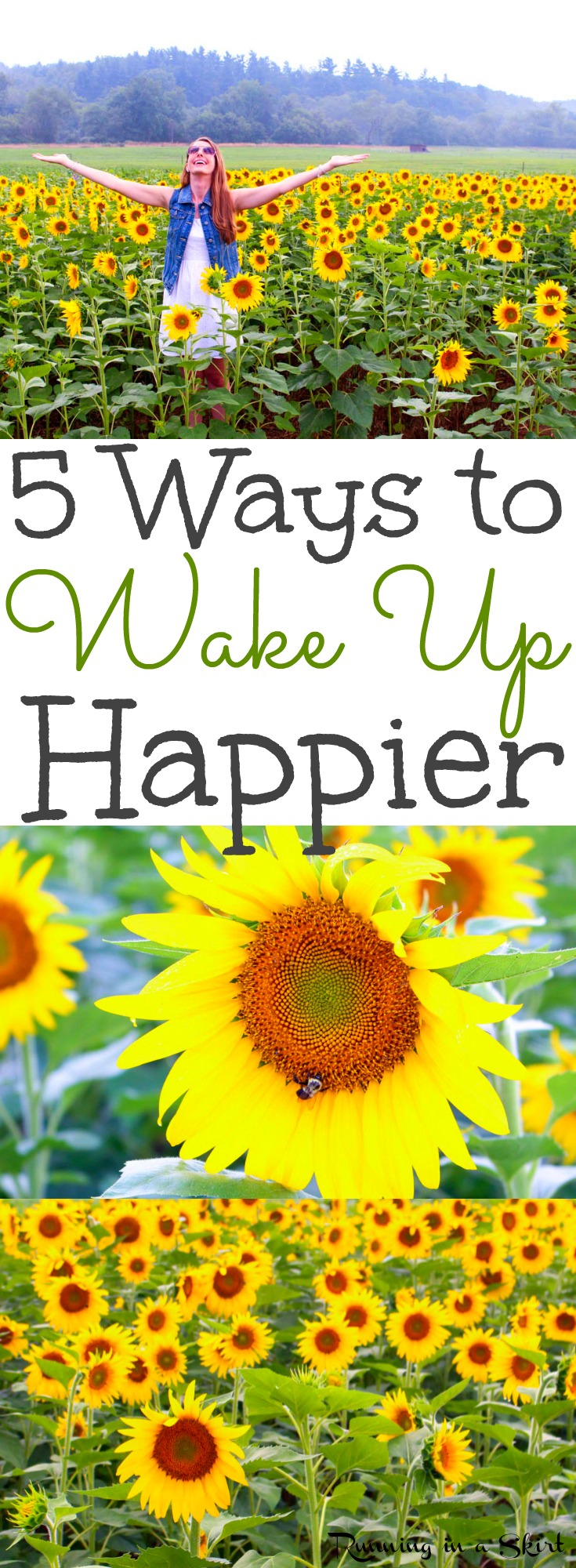 5 Ways to Wake Up Happier- a healthy wake up routine and tips to get the most out of your morning and feel good. Simple motivation and inspiration to actually feel positive in the mornings. / Running in a Skirt via @juliewunder