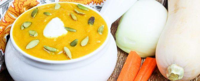 Healthy Crock Pot Butternut Squash Soup recipe / Running in a Skirt
