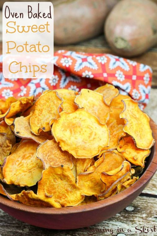 Oven Baked Sweet Potato Chips / Running in a Skirt