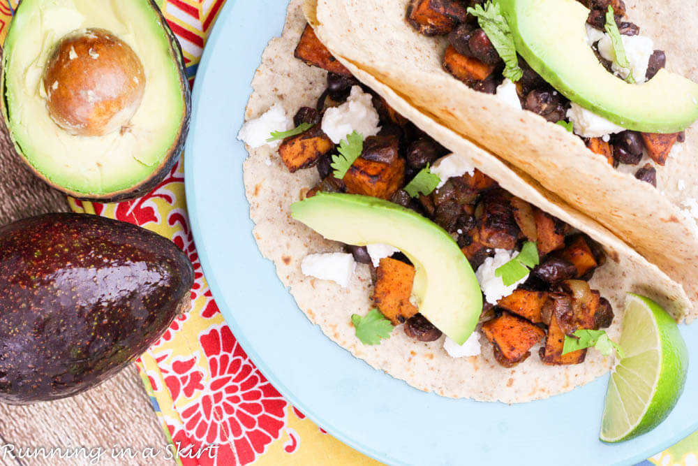 Sweet Potato and Black Bean Tacos t