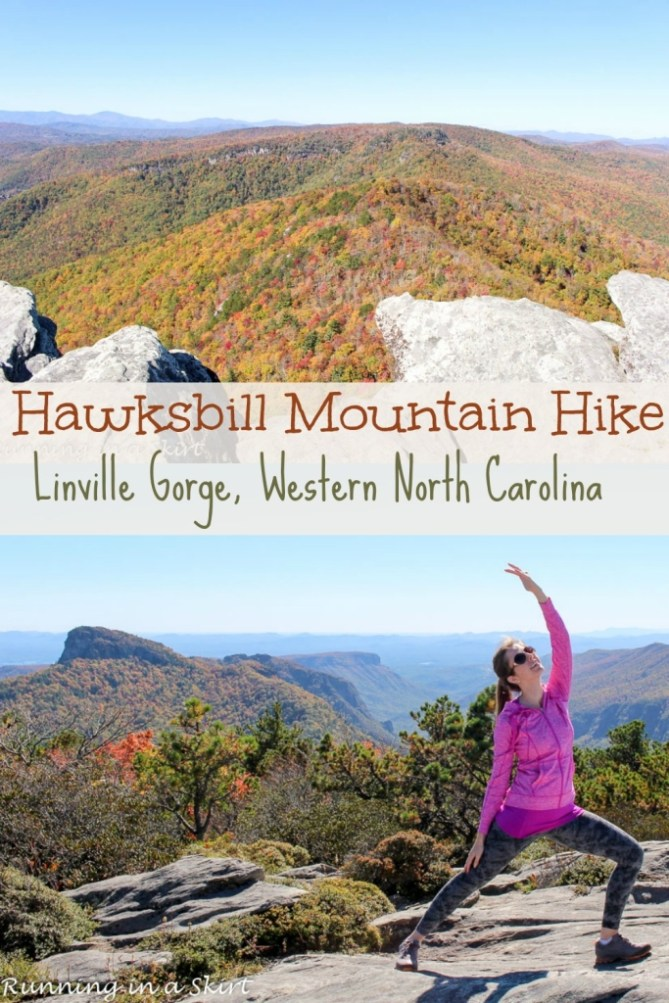 Hawksbill Mountain Hike, Linville Gorge Western North Carolina- Tips, pictures and directions/ Running in a Skirt