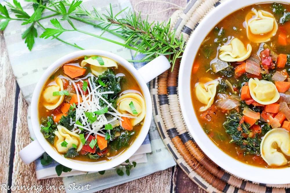 Kale Tortellini Soup