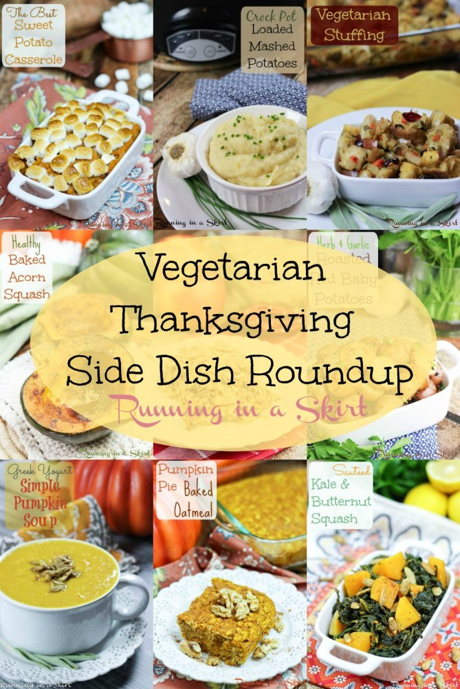 Vegetarian Thanksgiving Side Dishes Roundup- lots of great options for vegetarians on holidays/ Running in a Skirt