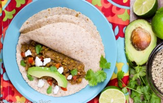 Crock Pot Lentil Taco Recipe- Lentil Quinoa Tacos area meaty, hearty, plant based, tasty vegetarian taco / Running in a Skirt