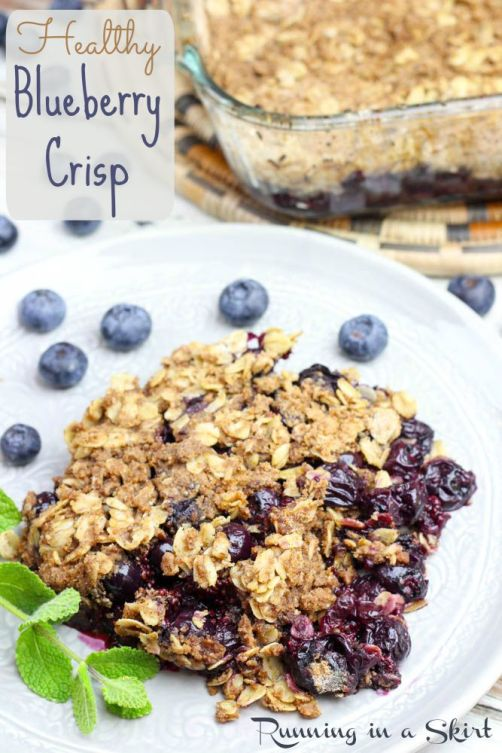 Healthy Blueberry Crisp