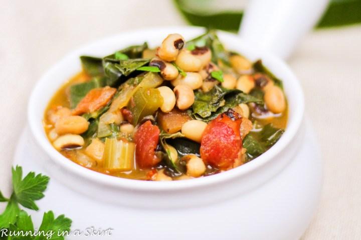 Vegetarian Crock Pot Black Eyed Peas and Collard Greens Soup-11-2