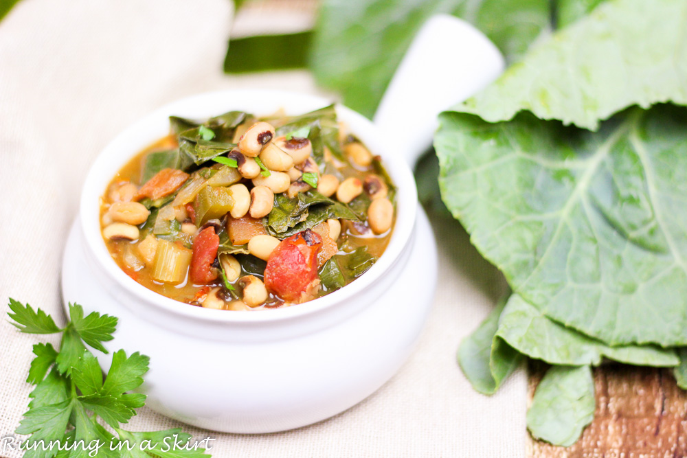 Vegetarian Crock Pot Black Eyed Peas And Collard Greens Soup 21 3