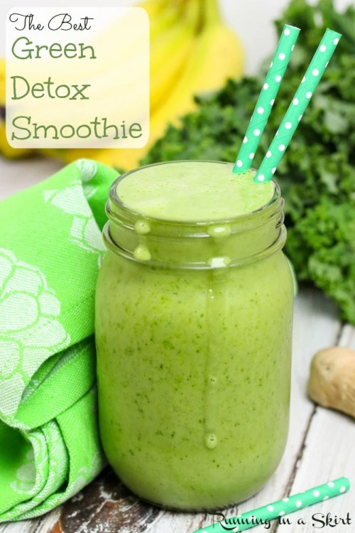 THE Best Detox Green Smoothie Recipe/ Running in a Skirt