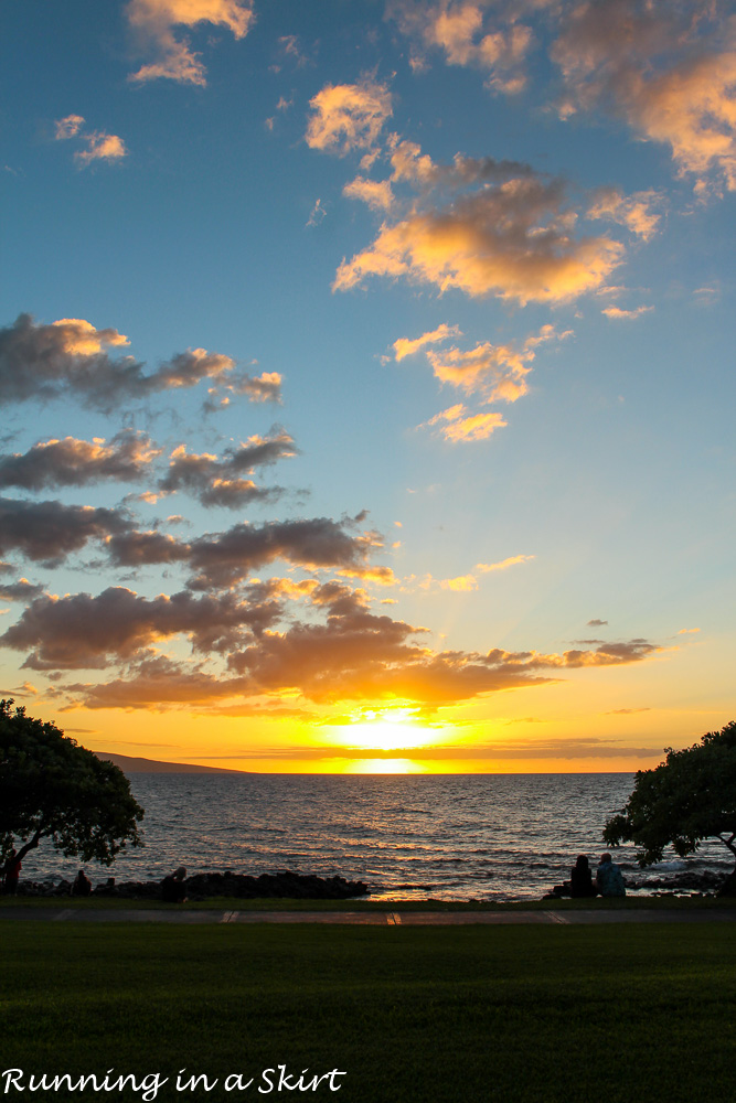 Sunset on Wailea Beach from Wailea Beach Marriott