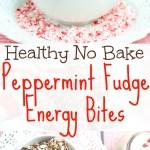 healthy Peppermint Fudge No Bake Energy Bites Recipe