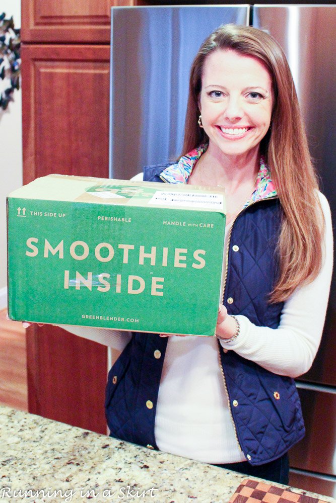 The easiest way to make healthy smoothies at home with Green Blender/ Find out how it works on Running in a Skirt or GreenBlender.com