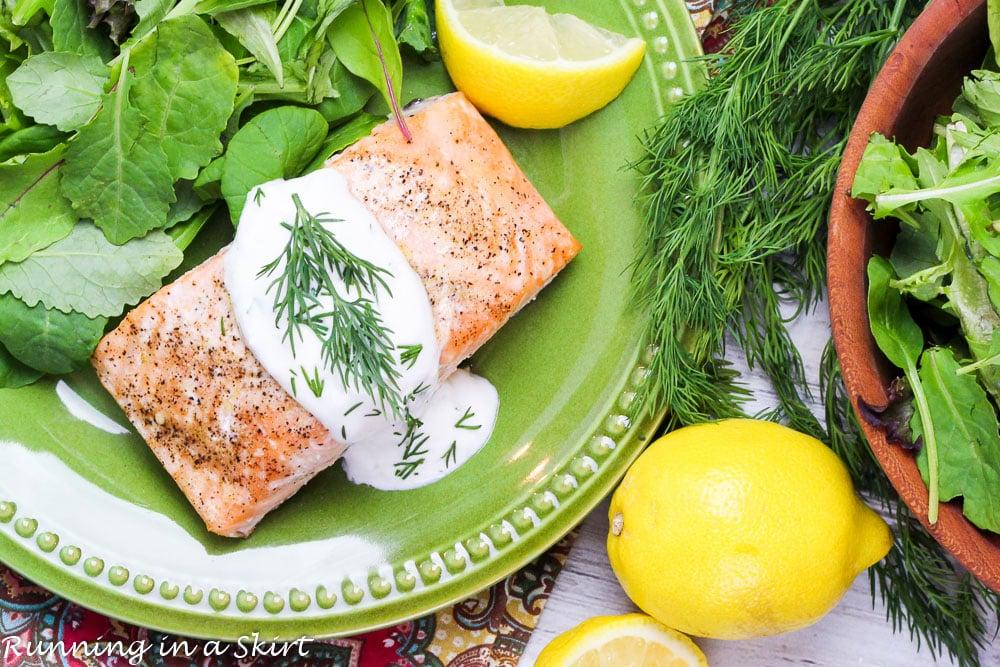 Greek Yogurt Dill Sauce for Salmon