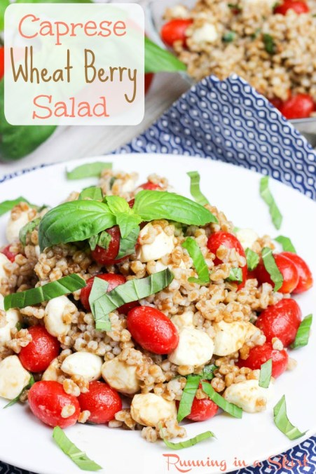 Caprese Wheat Berry Salad Pin