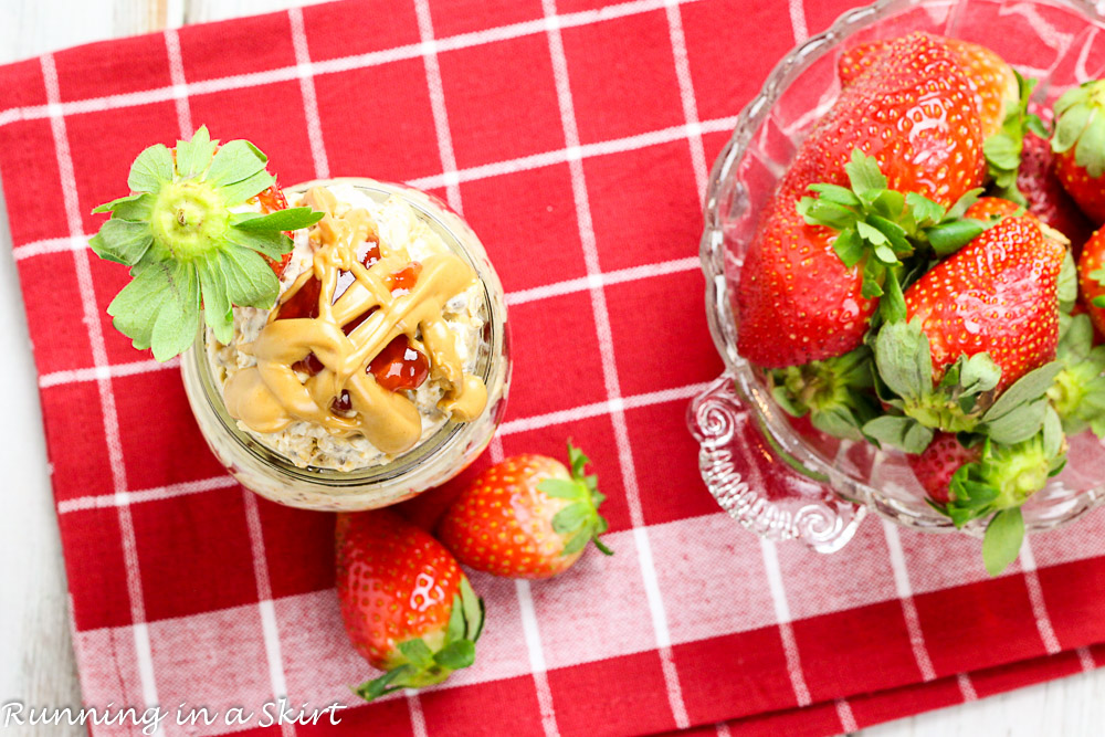 Peanut Butter and Jelly Overnight Oats-76