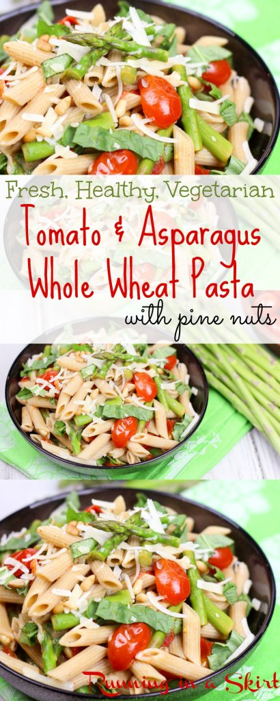 Fresh, Healthy, Vegetarian Tomato and Asparagus Pasta recipe