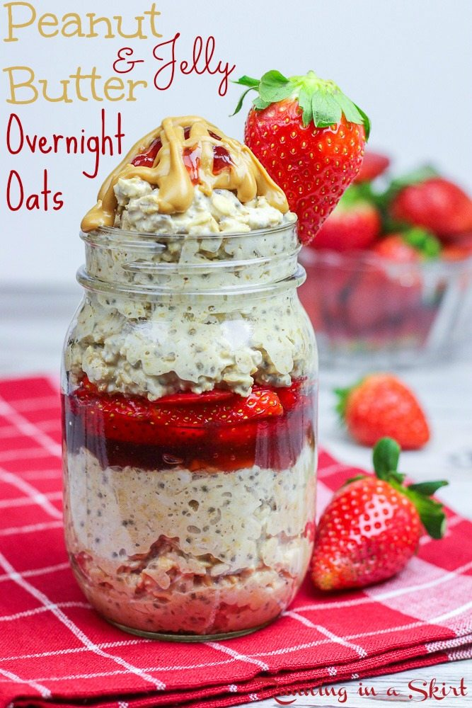 Peanut Butter and Jelly Overnight Oats recipe