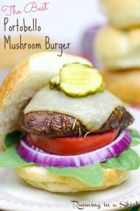 The Best Portobello Mushrtoom Burger recipe/ Running in a Skirt