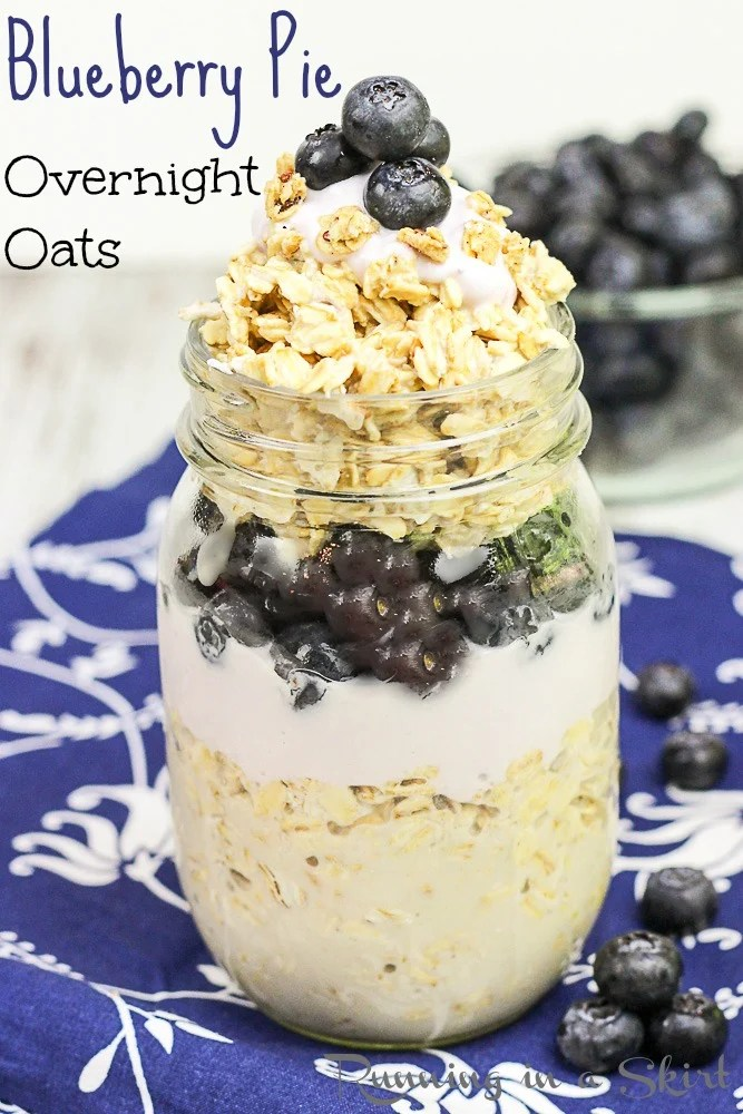 Blueberry Pie Overnight Oats - clean eating breakfast
