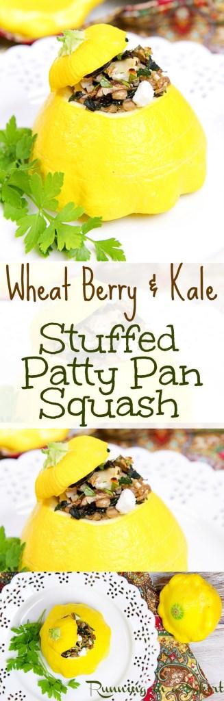 Stuffed Patty Pan Squash recipe./ Running in a Skirt