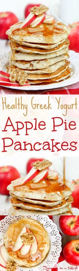 Apple Pie Greek Yogurt Pancakes Healthy