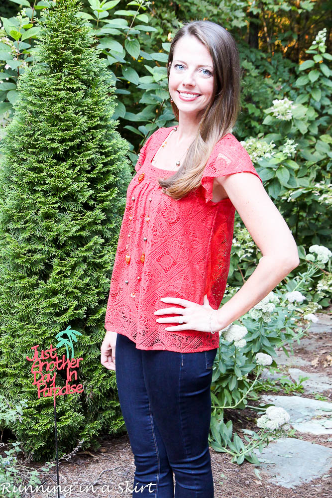 Burnt Orange Flowy Shirt-93-3