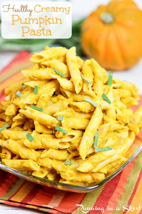 15 Minute Healthy Pumpkin Pasta