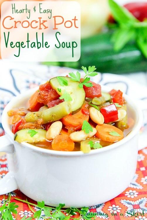 Easy Crock Pot Vegetable Soup - vegetarian & vegan!
