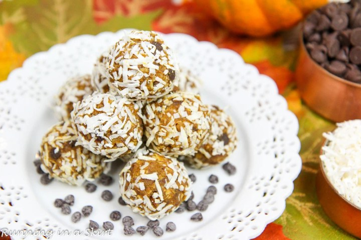 No Bake Pumpkin Pie Bites