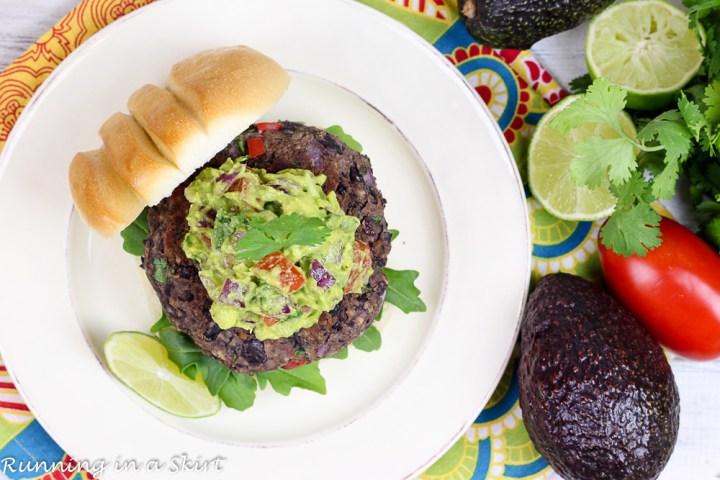Homemade Southwest Black Bean Burgers with Gaucamole