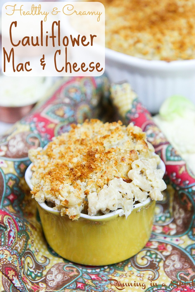 Creamy & Healthy Hidden Veggie Cauliflower Mac & Cheese / Running in a Skirt