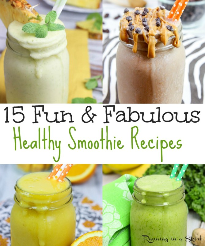 15 Fabulous and Fun Smoothie ideas to keep you on track! / Running in a Skirt