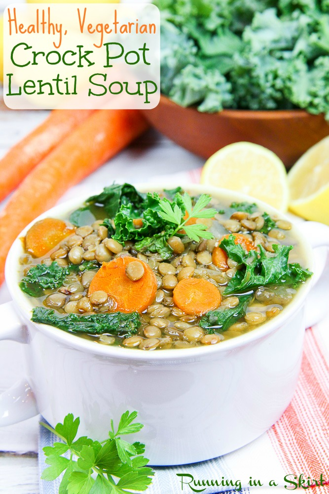 Vegetarian Crock Pot Lentil Soup