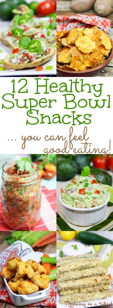 12 Healthy Super Bowl Snacks you can feel good eating! / Running in a Skirt