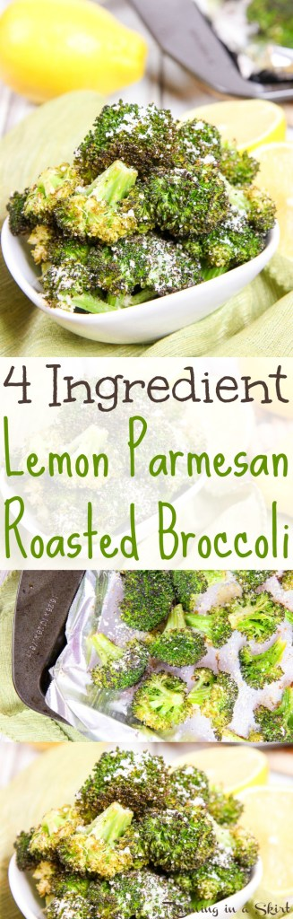 Roasted Lemon Parmesan Broccoli recipe / Running in a Skirt