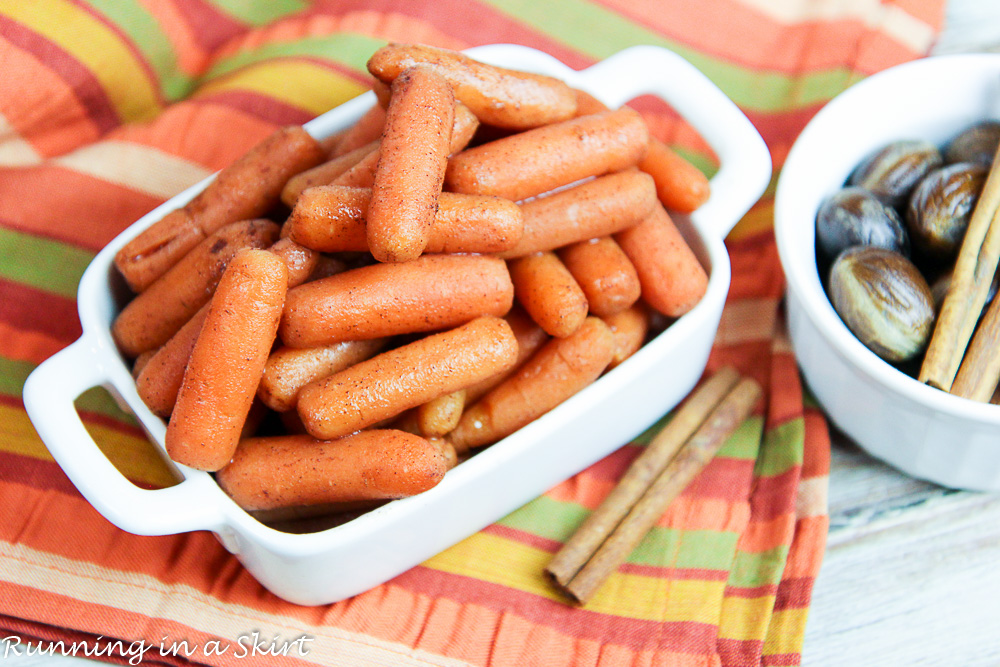 No Butter Crock Pot Honey Glazed Carrots recipe/ Running in a Skirt