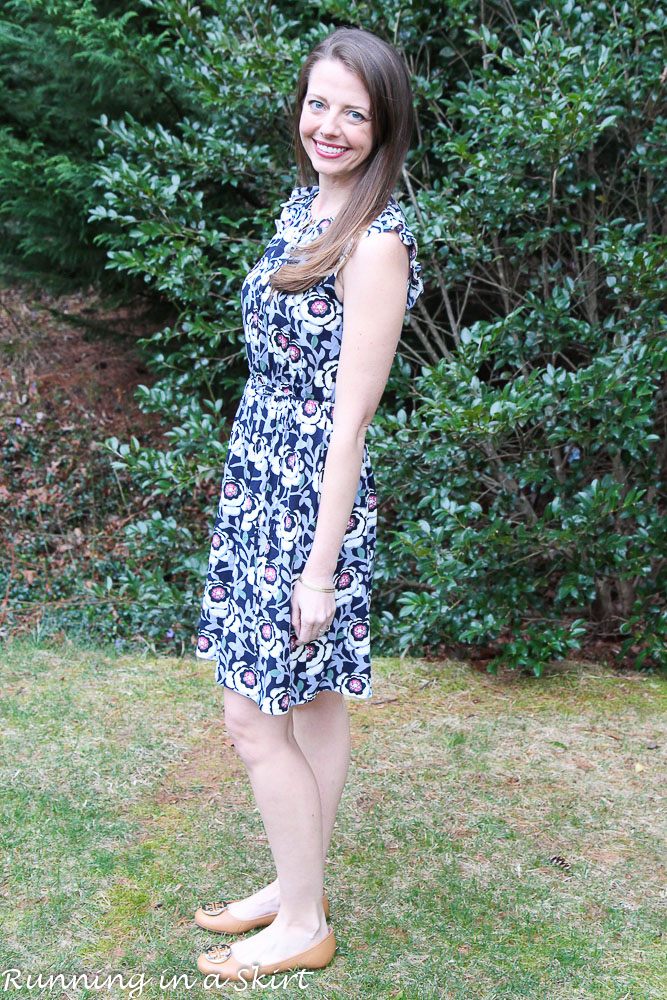 Floral Dress for Spring from LOFT / Running in a Skirt