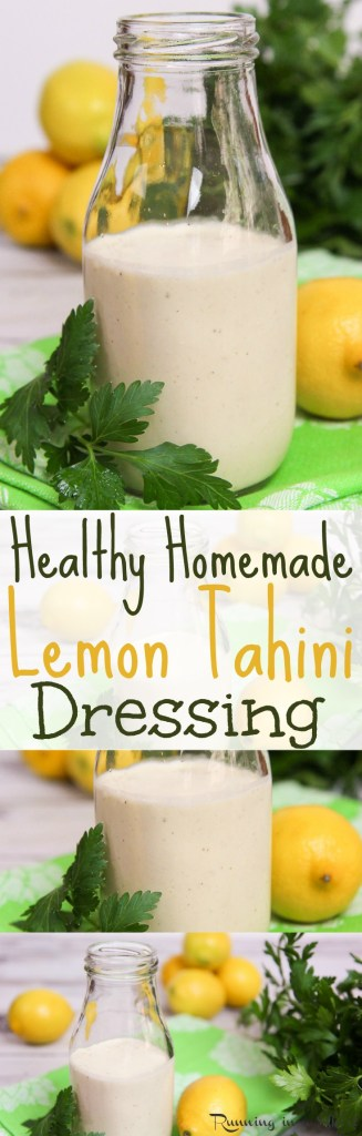 Healthy Homemade Lemon Tahini Dressing recipe / Running in a Skirt