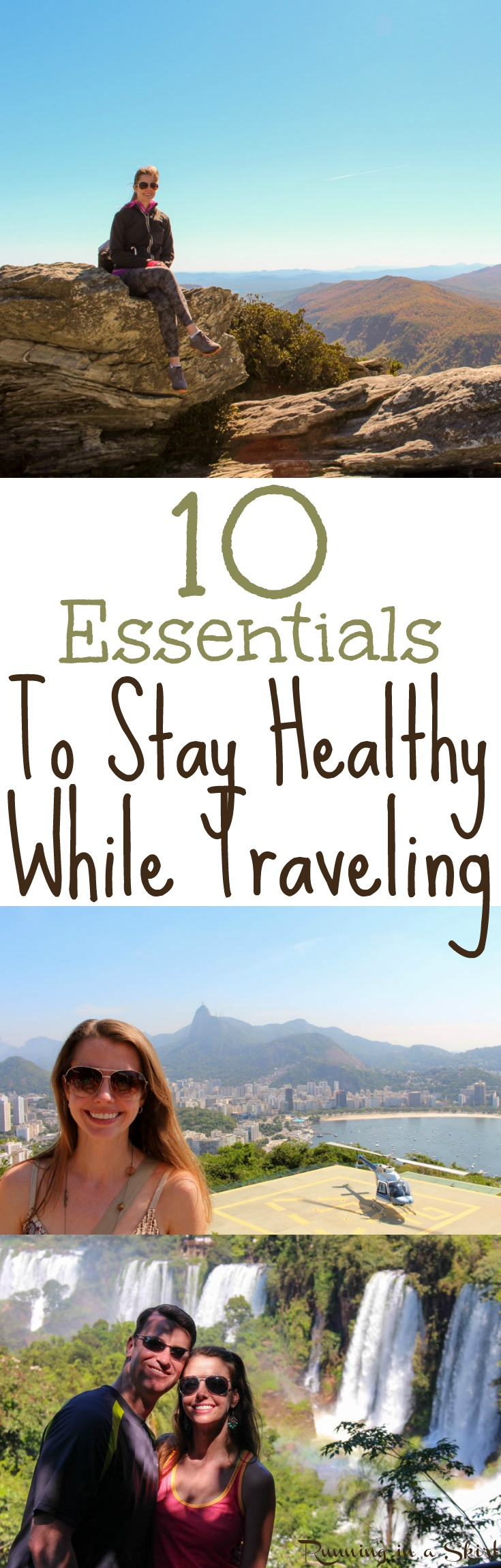 10 Tips for Healthy Travel - Essentials to Stay Healthy While Traveling/ Running in a Skirt