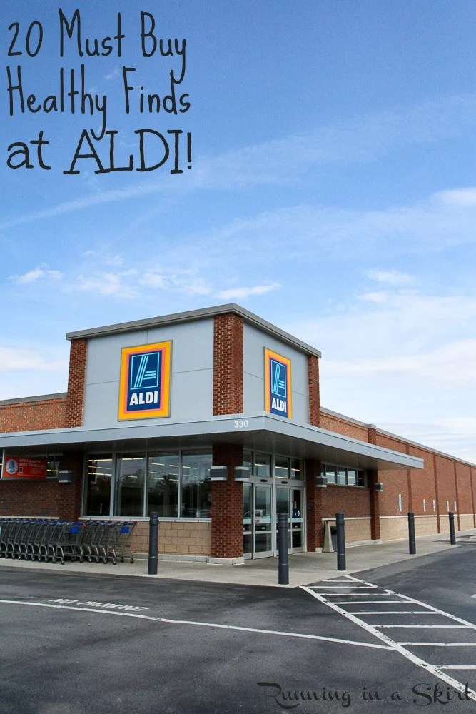 20 Healthy Finds at ALDI- ALDI Healthy Grocery List - clean eating & vegetarian / Running in a Skirt