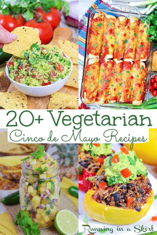 Vegetarian Cinco de Mayo recipes pinterest pin