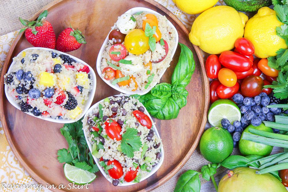 Three Easy Quinoa Salad Recipes