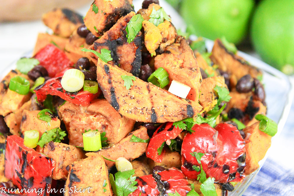 6 Ingredient Grilled Sweet Potato Salad/ Running in a Skirt