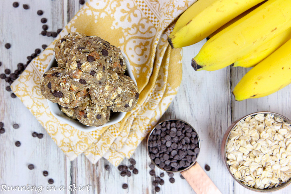Chunky Monkey No Bake Energy Bite Recipe / Running in a Skirt