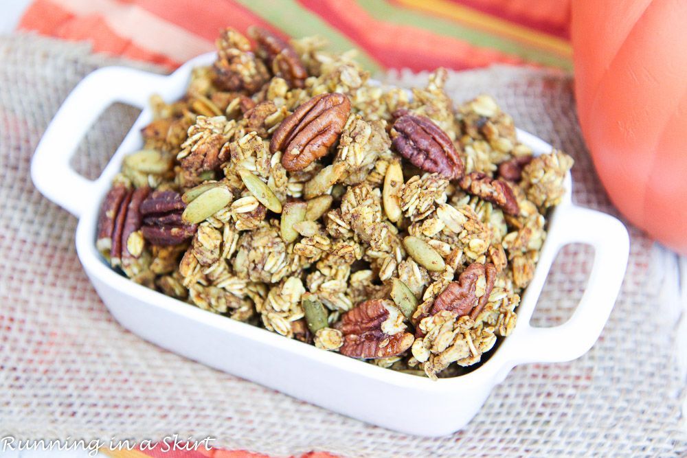 Healthy Crock Pot Pumpkin Granola recipe/ Running in a Skirt