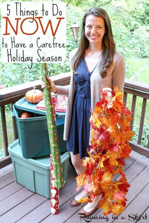 Dealing with Holiday Stress - 5 Things to Do Now to Have a Carefree Holiday Season