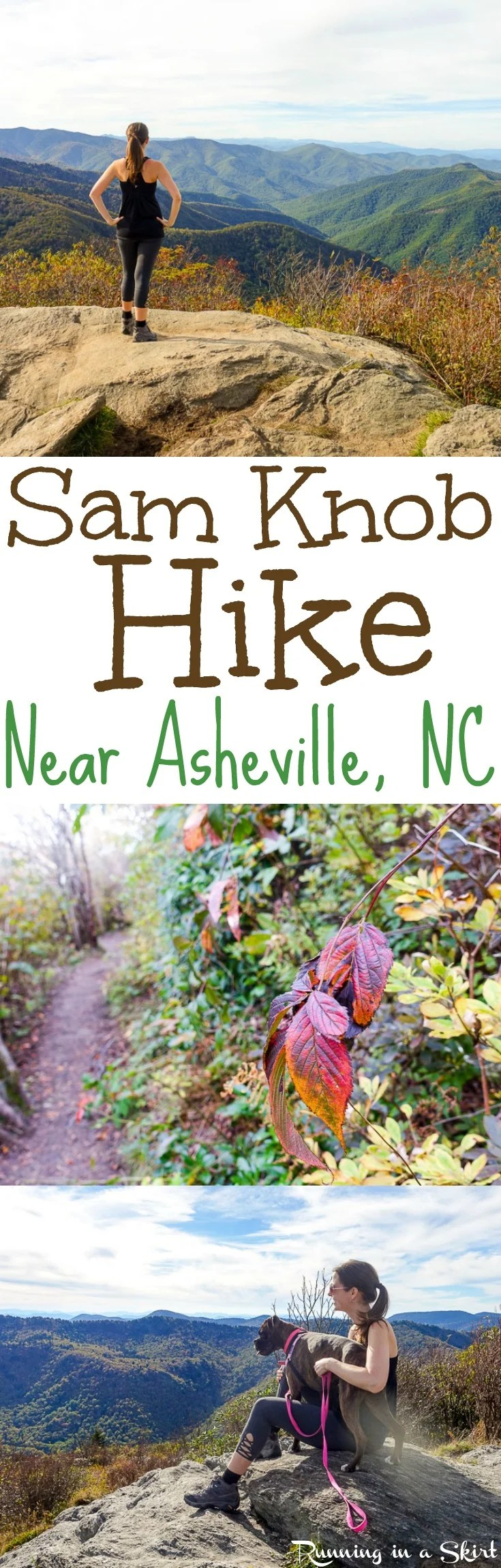 Sam Knob Hike - Details about this gorgeous 2 1/12 mile summit view day hike along the Blue Ridge Parkway near Asheville, North Carolina. Beautiful NC Mountains fall views and one of my favorite Asheville hikes. / Running in a Skirt via @juliewunder