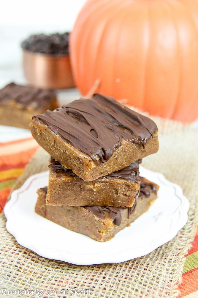 6 ingredient healthy pumpkin fudge recipe/ Running in a Skirt