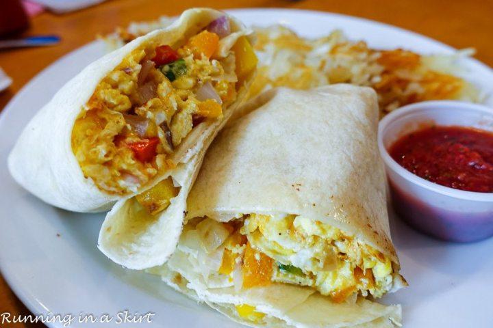 Breakfast burrito from Palmetto Bay Island Cafe